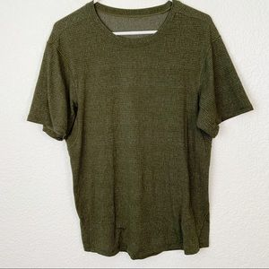 Lululemon Green Athletic Shirt Large